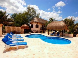 Poolside area, Casa Iguana Akumal Mexico