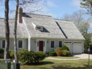 Front of home- long driveway - plenty of room for parking - 5 Quail Hollow South Harwich Cape Cod New England Vacation Rentals