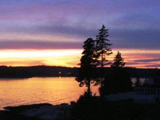 How Atlantic Sunset got its name - fine westerly views of Boothbay Harbor and its magical sunsets