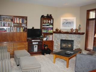 Living Room with Fireplace and Flatscreen TV