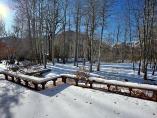 Winter deck view