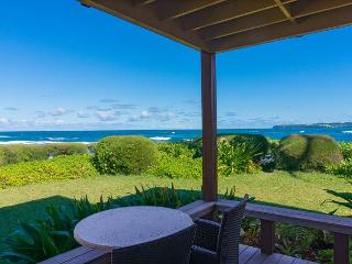 Private lanai...10 steps from the sand