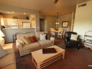 Spacious living room with access to the patio