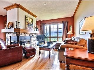 Beautifully Living Area with Stone Fireplace