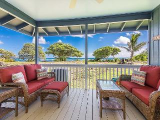 Sit on your spacious oceanfront lanai and enjoy beautiful sunrise and sunsets.  You may even spot some whales during the winter months!