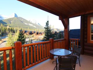 A private balcony allows you to soak in the breathtaking view of the Three Sisters