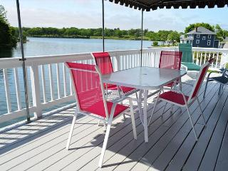 Deck overlooking the tidal river.