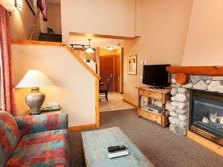 The 1 bedroom + loft condo has an open-concept floor plan