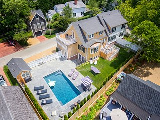 Aerial View of Village Luxury Compound, Heated Gunite Pool and Pool House
