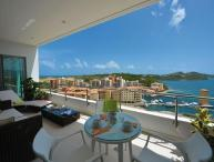 Moonrise at Blue Residence, Cupecoy, Saint Maarten - Pool, 180 Degree View of the Ocean, Beach and L