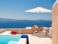 Blue Villas   Galini  Romantic villa, caldera view