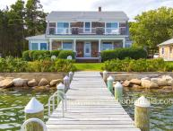 EWARO - Gorgeous Harborfront Home with Private Dock, Walk to Beach and Town, A/C, WiFi, Newly Furnished