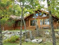 Maple Leaf Lodge: Modern Year-Round Log Home with Enclosed Pool on Eagles Nest Lake #3