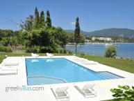 Greek Villas Corfu - the Wave Beach Villa  amazing seafront villa sharing pool sleeps 6+