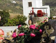 Naxos Villa of Roses with wonderful views to sea and hillside 3 B/R in private garden