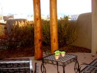 Taos rental private enclosed yard 3 masters fireplace panoramic view wifi dsl