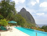 Stunning Views of the Pitons, Ideal for Families & Groups, Massive Infinity Pool