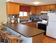 Located at Base of Powderhorn Mtn in the Western Upper Peninsula, A Cozy Home Across the Street from Main Ski Lodge